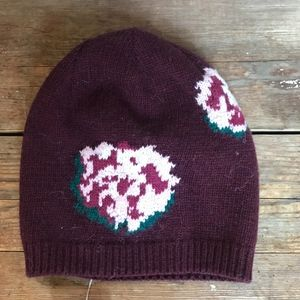 Fownes Burgundy and Pink Beanie